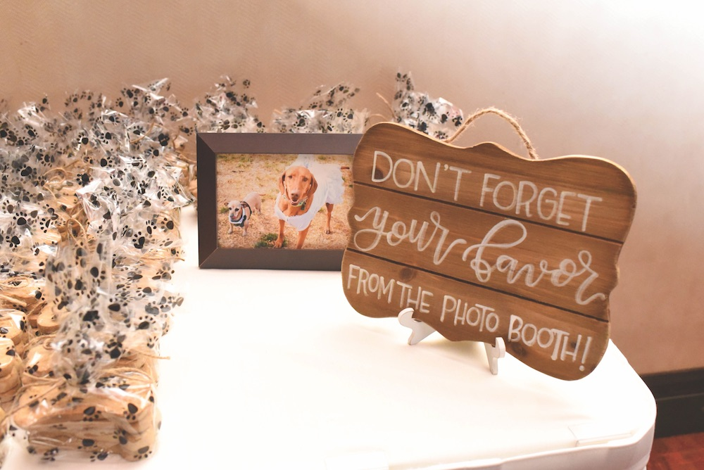 wedding decor sandia event center sandia casino dogs puppies dog treats goodie bags wedding venue